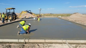 Concrete slab for oil riggers in Hobbs, NM
