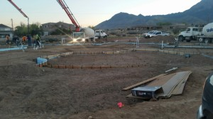 Foundation for custom home in Albuquerque, NM